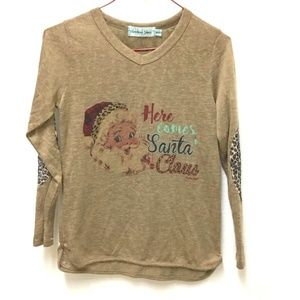 Girl's Southern Grace Here Comes Santa Claus Shirt